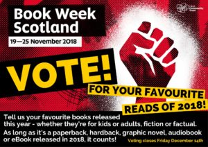 Vote for your favourite read of 2018 with Falkirk Libraries