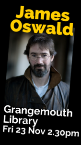 James Oswald Book Week Scotland author event